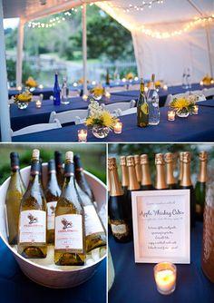 Adorable backyard wedding