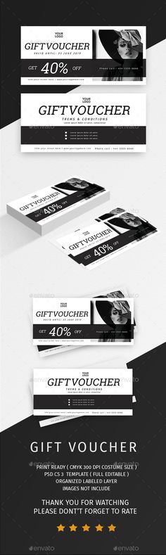 #Gift #Voucher - Loyalty Cards Cards & #Invites Download here: https://graphicriver.net/item/gift-voucher/20181713?ref=alena994