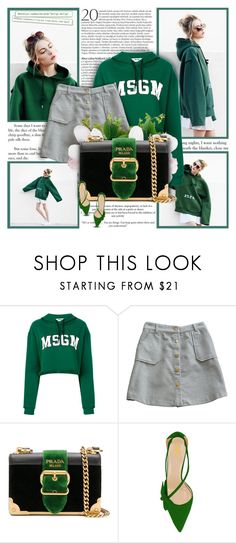 """""""They win. Game over."""" by ellawine ❤ liked on Polyvore featuring MSGM and Prada"""