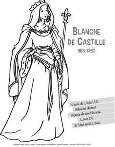 blanche-castille-coloriage.jpg (391×501)