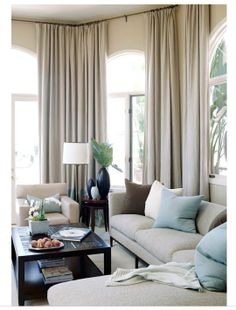 Living Room Design - Design photos, ideas and inspiration. Amazing gallery of interior design and decorating ideas of Living Room Design in living rooms by elite interior designers. My Living Room, Home And Living, Living Room Decor, Living Spaces, Cozy Living, Modern Living, Dining Room, Taupe Walls, Transitional Living Rooms