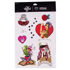 Junk Food + Classic Valfré Temporary Tattoos by Valfre | Valfré