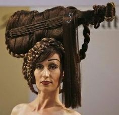 think she is having a bad,bad hair day! Bad Hair Day, Crazy Hair Days, Unique Hairstyles, Hairstyles For School, Funny Hairstyles, Hairstyle Images, Creative Hairstyles, Weird Haircuts, Horrible Haircuts