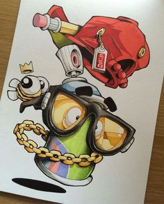 Colourings in... #cheo #sketch #promarker #copic #prismacolor #ironlakstrikers #bee Graffiti Piece, Graffiti Tattoo, Graffiti Drawing, Graffiti Murals, Graffiti Styles, Street Art Graffiti, Graffiti Doodles, Graffiti Cartoons, Graffiti Characters