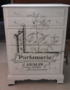 French Graphic Chest of Drawers