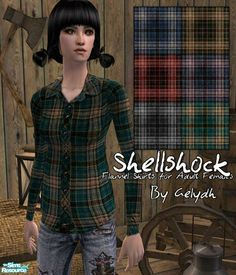 gelydh's Shellshock - Flannel Shirts for Adult Females