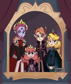 I ship starco so much but this is a great picture Cartoon Shows, Cartoon Art, Cute Cartoon, Butterfly Family, Star Butterfly, Star E Marco, Sakura Card Captor, Arte Sailor Moon, The Wolf Among Us
