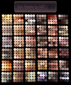 Skin palette for scratchpad My Paint. (is an image with png format) Feel free to use it, not to sell the palette for commercial use without my permissio. Skin Palette for MyPaintGO OUTSIDE YOUR COLOR COMFORT ZONE! Making a new character? Use a palett Digital Painting Tutorials, Digital Art Tutorial, Art Tutorials, Digital Paintings, Drawing Tutorials, Skin Color Palette, Palette Art, Skin Colors, Color Palettes