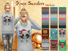 Sims 4 CC's - The Best: Christmas Sweaters by LollaLeeloo