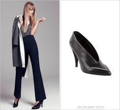 Harper's Bazaar magazine | December/January 2013 Pierre Hardy 'High Cut Tipped Pump' - $825.00 I'm in love with the styling for this shoot. Somehow it manages to be business chic, sophisticated and Twiggy-inspired all at once. Worn with: Prada top,...
