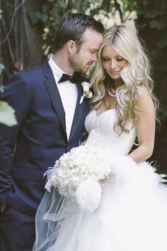 Aaron Paul and Lauren Parsekian's wedding. Lauren is beautiful-- best of luck to this lovely couple.