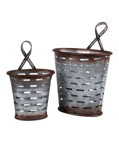 Love this Wall Olive Bucket - Set of Two on #zulily! #zulilyfinds