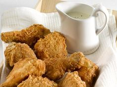 This is succulent comfort food from the Deep South, with the traditional accompaniment of a smooth cream gravy.