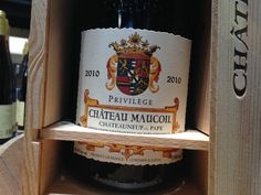 Luxury French red in a grand double bottle in presentation wooden gift box. Wooden Gift Boxes, Wooden Gifts, Chateauneuf Du Pape, Magnum, Wines, Wood Gifts