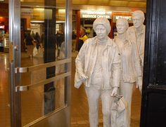 The Commuters, 1980 George Segal  the Port Authority Bus Terminal, NYC