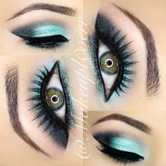 Pretty blue eyeshadow...not usually a fan of blue but liking these