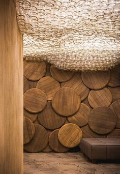 DIY Inspiration: A Bottle Ceiling Light Installation