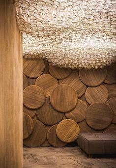 DIY Inspiration: A Bottle Ceiling Light Installation
