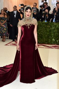 See what your favorite celebrities are wearing on the 2018 Met Gala red carpet.
