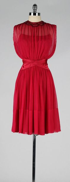 vintage 1960s party dress . fuchsia cocktail by millstreetvintage