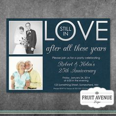 Still In Love Anniversary Party Invitation by FruitAvenueDesigns