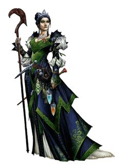 Female Human Aristocrat Wizard or Sorcerer - Pathfinder PFRPG DND D&D d20 fantasy