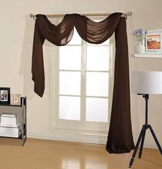 Never Lose Your CHEAP VALANCES Again | CountryCurtains Kitchen Curtains And Valances, Green Curtains, White Curtains, Country Curtains, Scarf Curtains, Window Scarf, Drapes Curtains, Room Divider Curtain, Sheer Curtain Panels