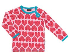 Mädchen Langarm Shirt Herzen Maxomorra