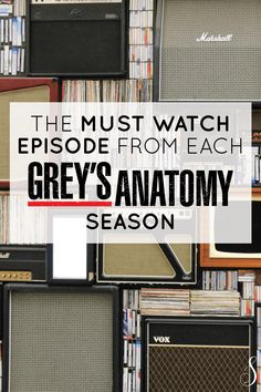 The Must Watch Episode from Each Grey's Anatomy Season Greys Anatomy Facts, Greys Anatomy Season, Grays Anatomy, Himym Episodes, Watch Episodes, Best Grey's Anatomy Episodes, Best Life Advice, Arizona Robbins, Lexie Grey