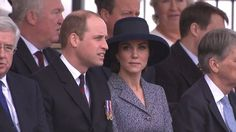 Prince William and his wife Princess Kate arriving at the memorial in honor of civilians and veterans that served in Iraq and Afghanistan.