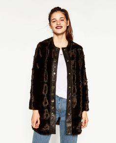 Image 2 of LONG FAUX FUR COAT from Zara