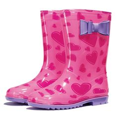 Make rainy days fun with this cute rubber rain boot with pink and purple hearts. Regularly $19.99, shop Avon Kids products online at http://eseagren.avonrepresentative.com