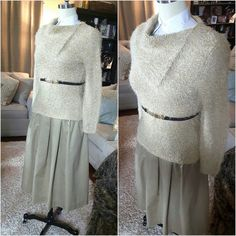Khaki Skirt by AmarieCollections on Etsy