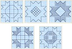 5 Free quilt embroidery designs for quilting in the hoop.