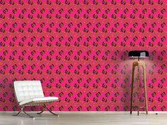 Design #Tapete Fancy Paisley Fuchsia