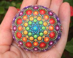 Liona Hotta by LionaHotta Dot Art Painting, Mandala Painting, Pebble Painting, Pebble Art, Mandala Art, Stone Painting, Mandala Painted Rocks, Mandala Rocks, Stone Mandala