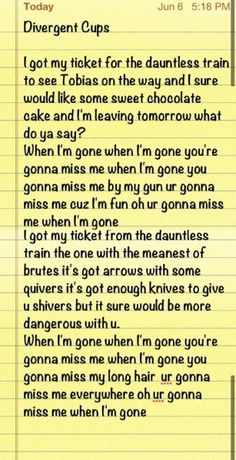 love this Divergent Cup Song