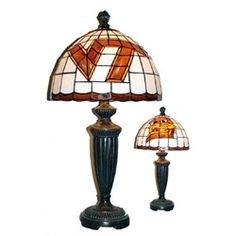 Virginia Tech University VT Hokies Stained Glass Desk Lamp