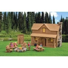 Mary Maxim - Log Cabin Plastic Canvas Kit - New Items--this is adorable!