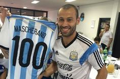 100 partidos de Mascherano en la selección