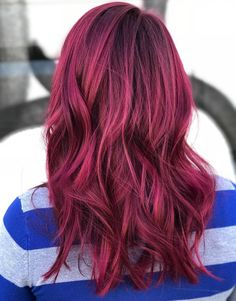 45 Shades of Burgundy Hair: Dark Burgundy, Maroon, Burgundy with Red, Purple and Brown Highlights Eye-Catching Magenta Hair with Black Roots Red Ombre Hair, Hair Color Auburn, Burgundy Hair, Auburn Hair, Hair Color Dark, Red Pink Hair, Brown Hair, Teal Hair, Red Color