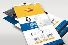 Screendesign und grafische Gestaltung einer Responsive Landingpage (Onepager) für einen Transportunternehmer auf Basis von WordPress