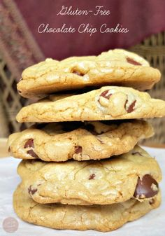 Gluten-Free Chocolate Chip Cookies, yum! I love a good chocolate chip cookie with a hot cup of tea to round my day off.