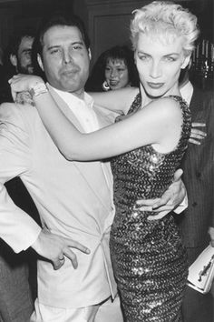 Annie Lennox and Freddie Mercury