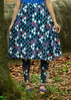 """Cirkus"" skirt in eco-cotton & lyocell – Skirts & dresses – GUDRUN SJÖDÉN – Webshop, mail order and boutiques 
