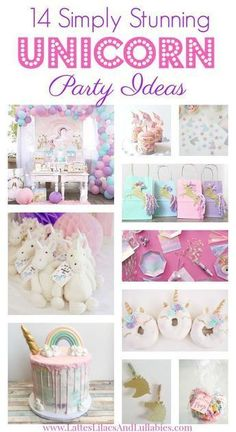 14 Simply Stunning Unicorn Party Ideas Are you planning a unicorn birthday party for your little one? Here are 14 simply stunning ways to make your unicorn party extra special. Unicorn Themed Birthday Party, 5th Birthday Party Ideas, 1st Birthday Girls, First Birthday Parties, Birthday Party Decorations, Ideas Party, Birthday Diy, Birthday Wishes, Birthday Cakes