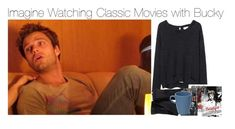 """Imagine Watching Classic Movies with Bucky"" by fandomimagineshere ❤ liked on Polyvore featuring Sebastian Professional, R13, H&M and Pillivuyt"