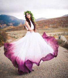 Trend alert: Vestido de noiva ombré - Berries and Love