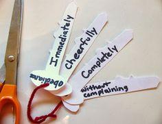 Keys craft...Keys to obedience...Teaching obedience  Bible verses on obeying