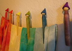 Gnome Clothes Pins (tutorial)